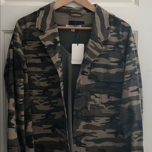 Army jacket with matching green under shirt